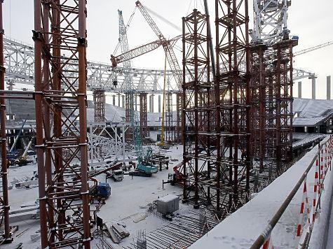 Настадионе ЧМ-2018 вНижнем Новгороде началось строительство крыши