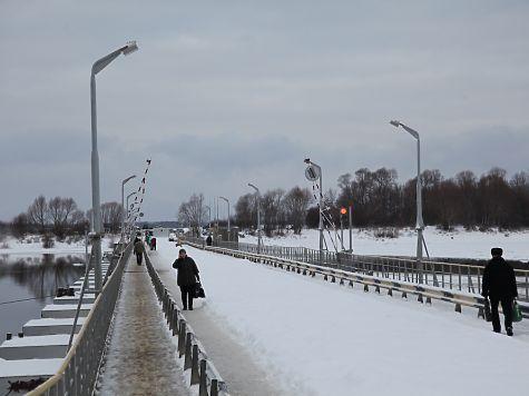 Наплавной мост через Оку заработал вПавлове