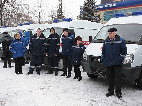 17 новых машин скорой помощи получили клиники региона
