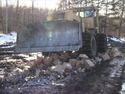Нижегородские полицейские уничтожили неменее 13 тыс. изъятых изнезаконного оборота контрафактных консервов