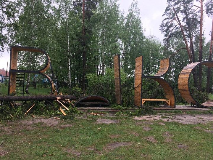 Поваленные деревья иповрежденные автомобили— Смерч вЧкаловске