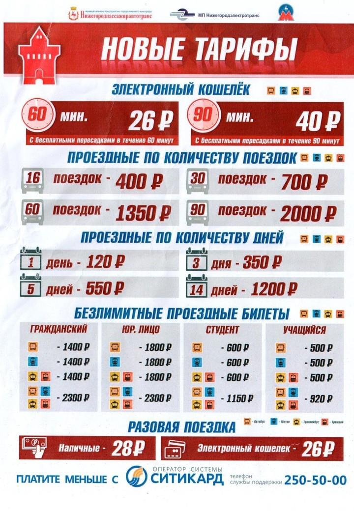Новые тарифы на нижегородский муниципальный транспорт введут с 15 августа