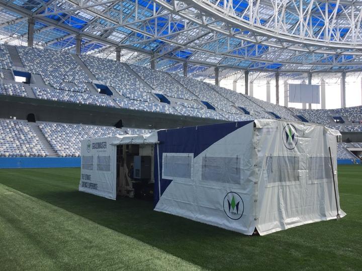 Работы настадионе «Нижний Новгород» вышли на заключительную  стадию